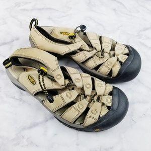 Keen|Eva Newport Waterproof Sandals in Beige